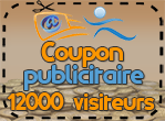Coupon publicitaire 12000 visiteurs, 400 points