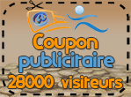 Coupon publicitaire 28000 visiteurs, 800 points