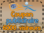 Coupon publicitaire 6000 visiteurs, 400 points