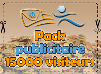 Pack publicitaire 15000 visiteurs, 800 points