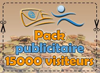 Pack publicitaire 15000 visiteurs