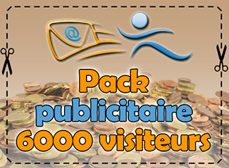 Pack publicitaire 6000 visiteurs, 400 points